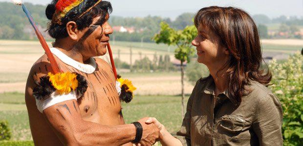 Pirakuma remercie Cécile pour son hospitalité