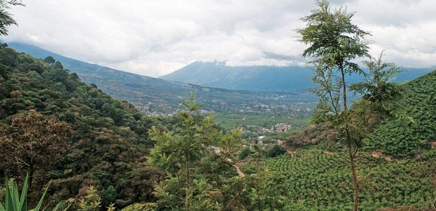 Vue du volcan Agua