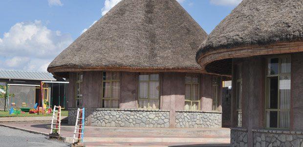 Les bâtiments en forme de toukoul, hutte traditionnelle éthiopienne