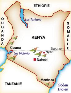 Carte du café du Kenya