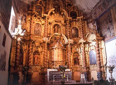 La cathédrale, construite sur un ancien temple Inca.