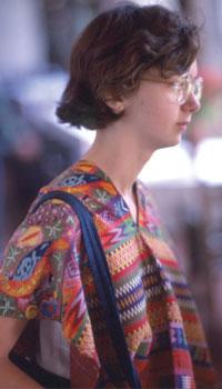 Cécile en costume traditionnel