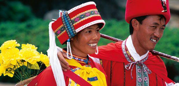 Un couple heureux au Yunnan chinois