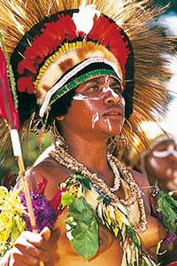 Dame papou au sing SIng de Goroka