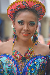 Jolie danseuse du Carnaval d'Oruro