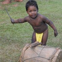 Musicien Embera en herbe
