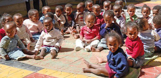 Les petits de l'orphelinat Soleil Matinal à Gelan en Ethiopie