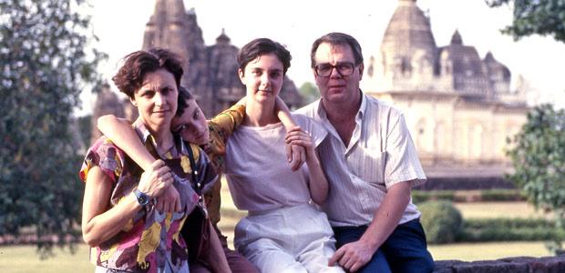 Mania, François, Cécile et Paul Dequidt en Inde