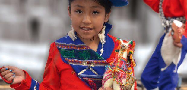 Jeune danseuse et son petit lama