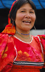 Indienne Kuna souiante