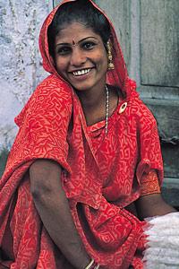 Belle marchande indienne