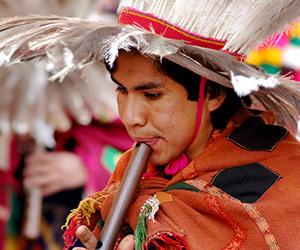 Un joueur de flûte