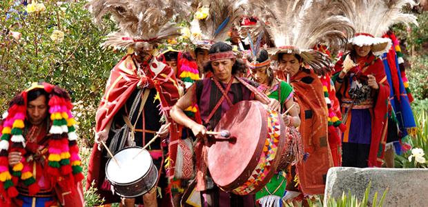 Les musiciens de la fête du soleil Inca