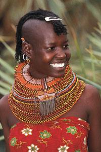 Jeune fille Samburu - Kenya 2002