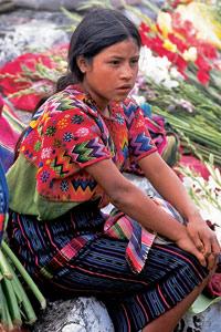 Jeune marchande de fleurs