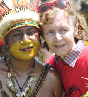Mania et dame Papoue
