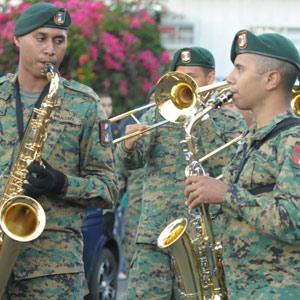 Les trompettistes à la feria del Café à Boquete au Panama