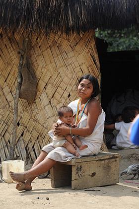Chez les Indiens Goji en Colombie
