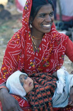 Maman en Inde