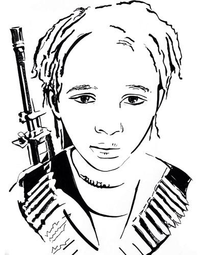 Jeune combattante tigréenne
