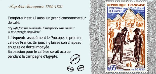Napoléon Bonaparte, grand amateur de café