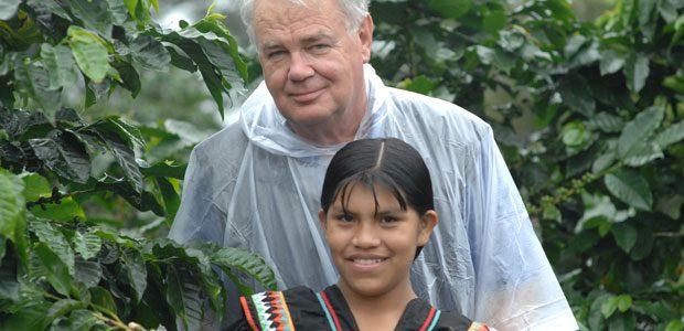Dans les caféiers sous la pluie au Panama