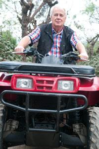 Paul sur la piste des quads