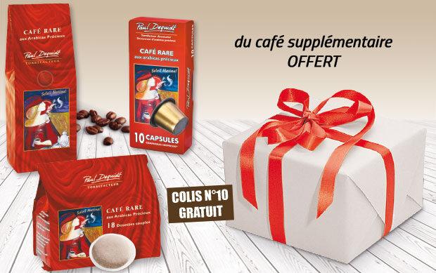 Votre colis de café rare Paul Dequidt N°10 offert