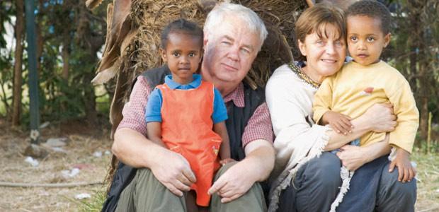 Paul et Mania à l'orphelinat du Toukoul en Ethiopie