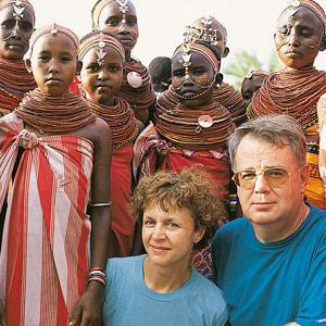Paul et Mania Dequidt chez les Samburu au Kenya