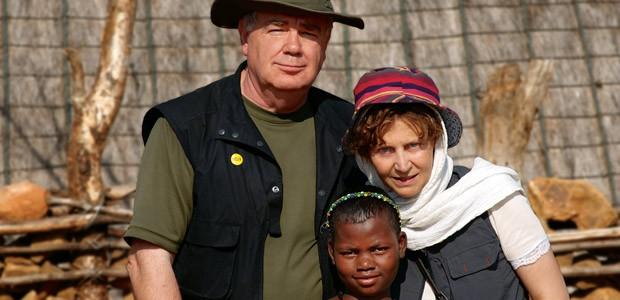 Paul et Mania Dequidt chez les Zulu en Afrique du Sud