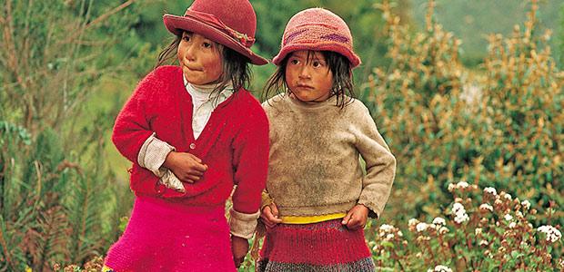 Fillettes de la Cordillère des Andes