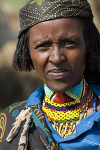 Bergère Borana rencontrée sur la route entre Yabelo et Konso