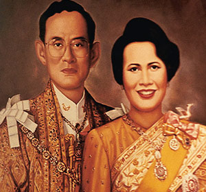 Le couple royal de Thaïlande