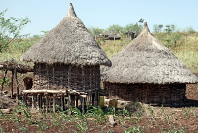 Toukoul, hutte traditionnelle éthiopienne