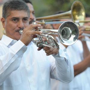 Les musiciens à la feria del Café à Boquete au Panama